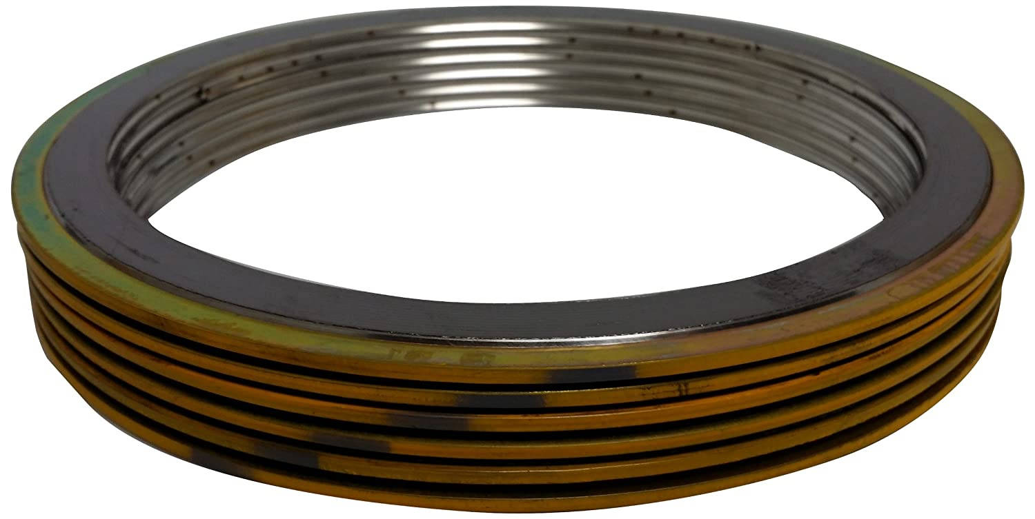 Supplied by Sur-Seal Inc of NJ for 3//4 Pipe Pressure Class 1500# for 3//4 Pipe Pack of 24 Pack of 24 Sterling Seal 9000IR.750304GR1500X24 304 Stainless Steel Spiral Wound Gasket with 304SS Inner Ring and Flexible Graphite Filler