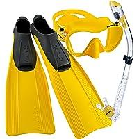 Cressi Clio aleta larga de, máscara sin marco, y tubo seco con bolsa de transporte