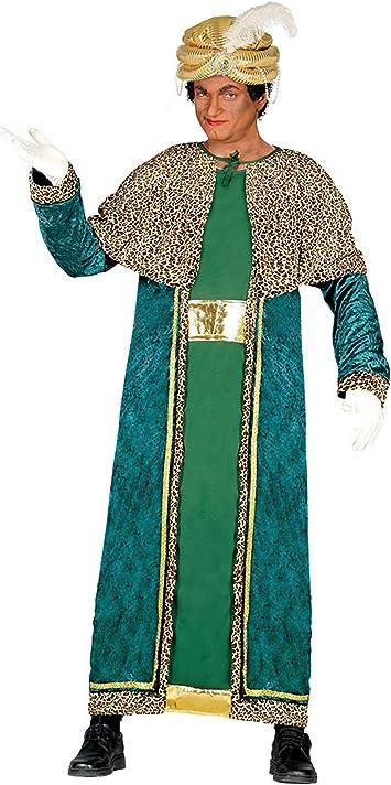 Guirca- Disfraz Rey Mago Baltasar para adulto, Color verde, talla ...