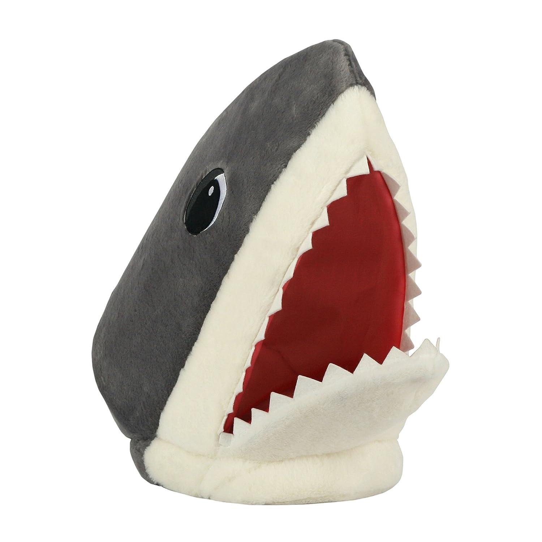 Maskimals Oversized Shark Plush Mask Grey