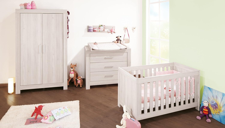 Kinderzimmer Online Bestellen   Pinolino Kinderzimmer Pepper Esche Grau 3 Teilig Mit Kinderbett