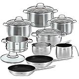 Rösle Set de casseroles Elegance Globe 10pièces, inox, cm 24cm,–unités
