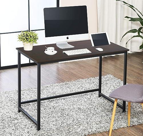 FITUEYES Black Writing Desk