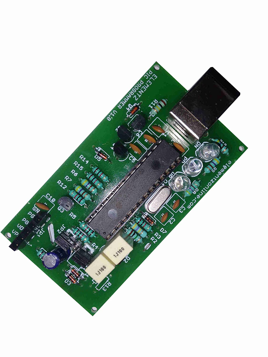 Elementz Universal Pic Usb Icsp Serial Programmer With Zif Socket Jdm2 18f Flasher Usbpicprog For All Microcontrollers And Microprocessors