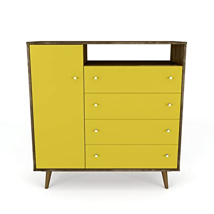 Manhattan Comfort 210BMC94 Liberty Modern Bedroom Armoire And TV Stand,  Yellow