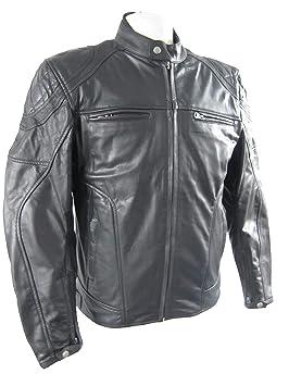 Chaqueta Piel hombre con refuerzos para moto biker armour ...