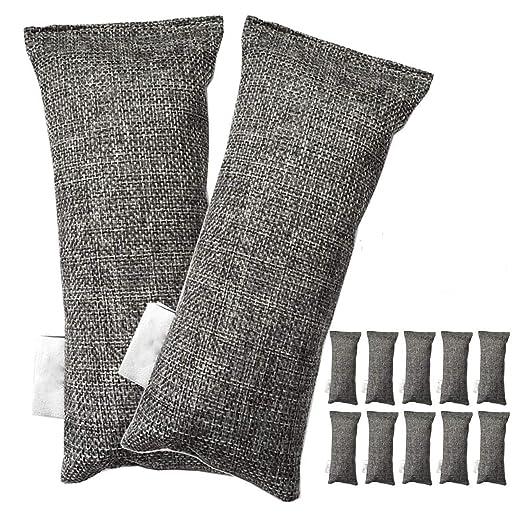TOOGOO 12 Paquetes Cada Mini Bolsas De Carbón De Bambú ...
