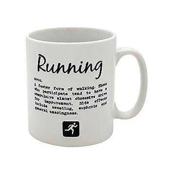 Taza con divertida definición de la palabra correr ...