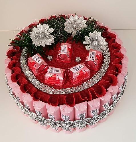 Weihnachtsgeschenk Deko Torte Mit Pralinen Mon Cheri Geschenk Zum