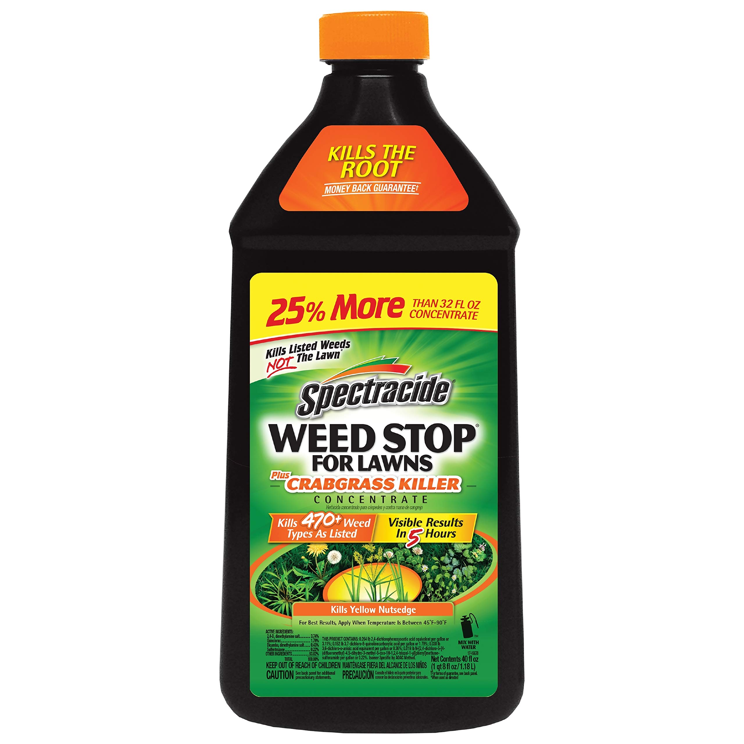 Spectracide HG-96624-1 Stop Weed and Crabgrass Killer, 40 oz, Brown/A