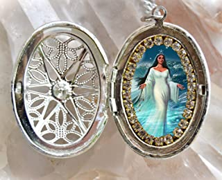 product image for Yemanjá or Iemanjá Queen of The Sea Handmade Locket Orixá or Orisha Jewelry Medal Pendant
