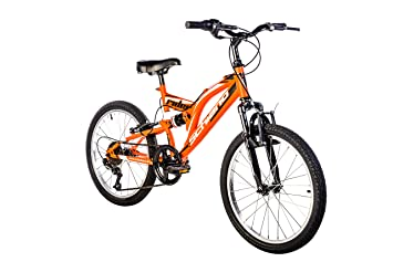 F.lli Schiano Rider Bicicleta Biamortiguada, Hombre, Naranja ...