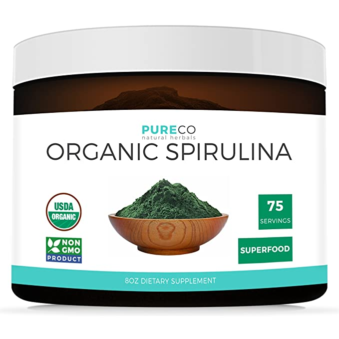 Pure Co Organic Spirulina Powder