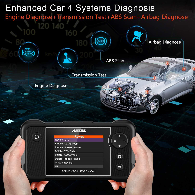 Ancel FX2000 OBD2 Automotive Scanner ABS Airbag Transmission Engine Diagnostic