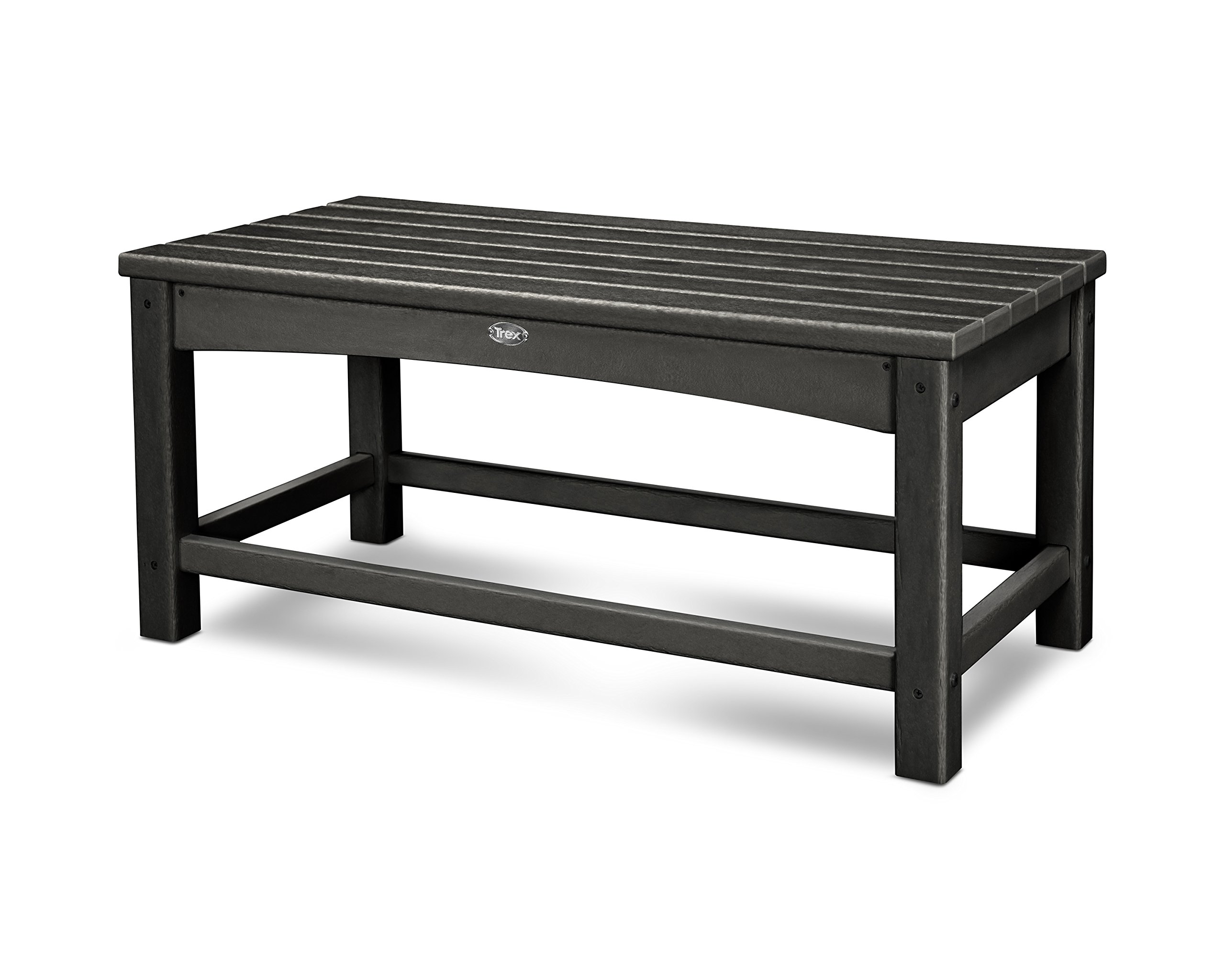 Trex Outdoor Furniture Rockport Club Coffee Table, Charcoal Black