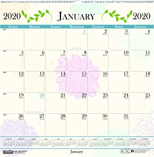 product image for House of Doolittle 2020 Monthly Wall Calendar, Whimsical Floral, 12 x 12 Inches, January - December (HOD3841-20)