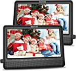 WONNIE 10.5'' Dual Screen DVD Player Portable Headrest CD Players for