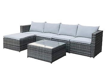 Outstanding Cosmoliving Rattan Outdoor Garden Furniture Set Grey Miami Cjindustries Chair Design For Home Cjindustriesco