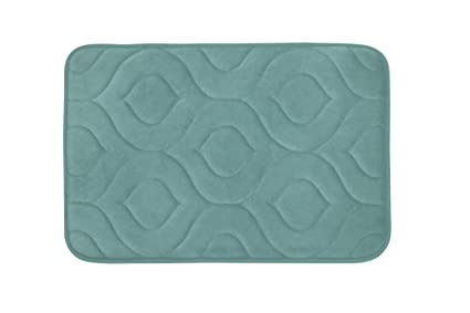 71a1d2284ca Image Unavailable. Image not available for. Color  Bounce Comfort Naoli Micro  Plush Memory Foam Bath Mat ...