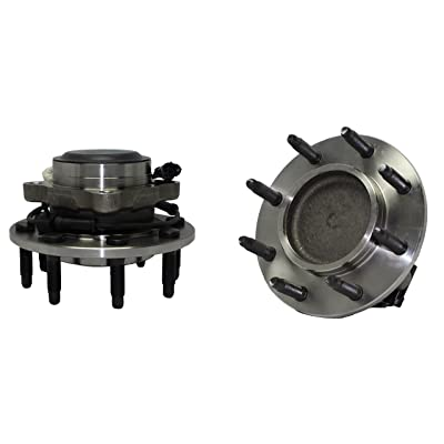 2WD Only Brand New (Both) Front Wheel Hub and Bearing Assembly for Sierra 3500 Silverado 3500 2WD 8 Bolt W/ABS (Pair) 515087 x2: Automotive