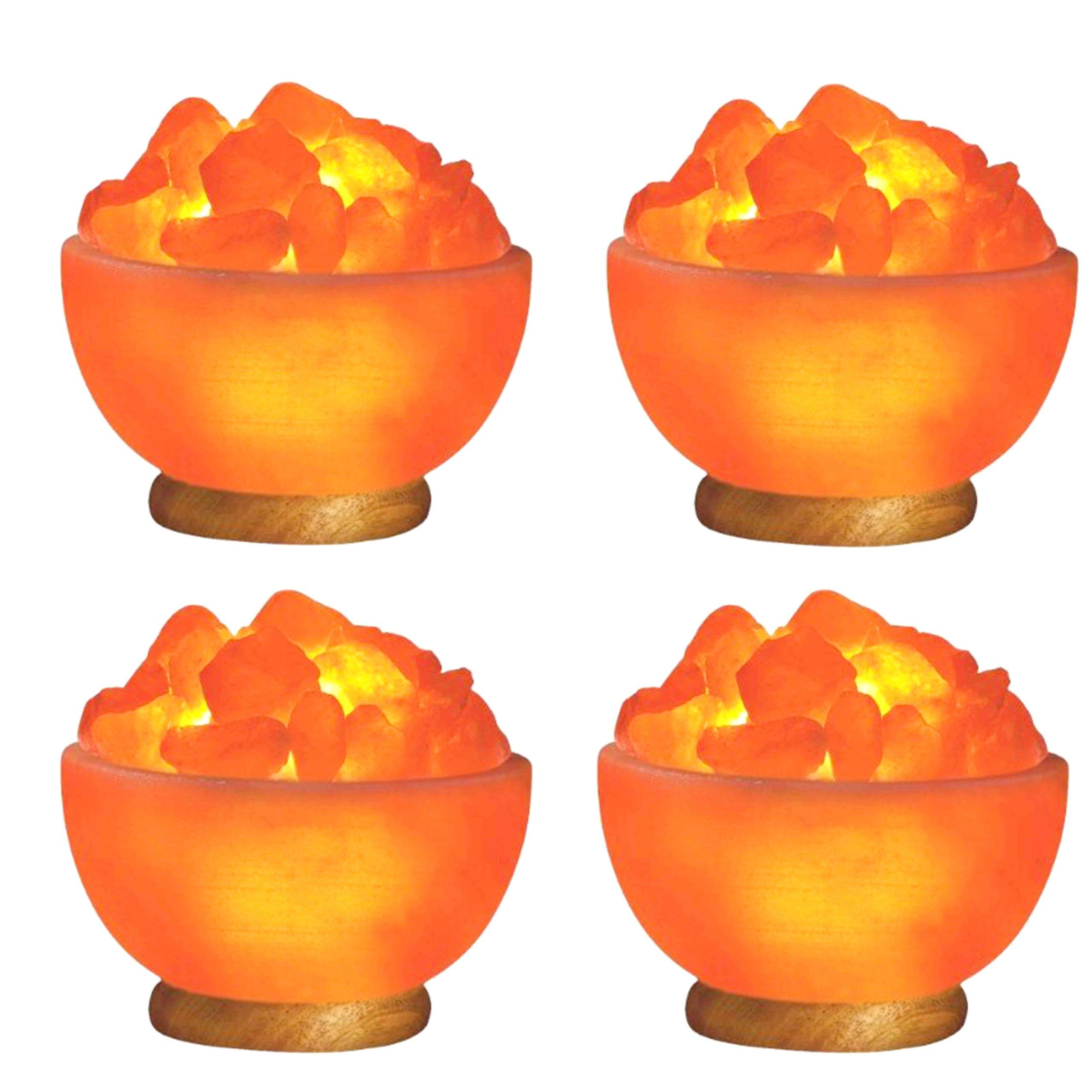 Indus Classic Himalayan Rock Crystal Fire Bowl Salt Lamps Natural Ionizer