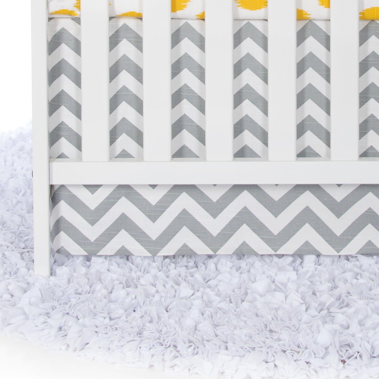 Glenna Jean Crib Swizzle Skirt Dust Ruffle for Baby Nursery Crib by Glenna Jean
