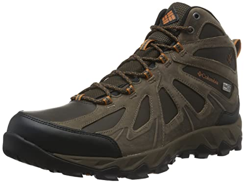 Columbia Men's Multisport Shoes, Waterproof, Peakfreak XCRSN II MID  Leather, Brown (Cordovan