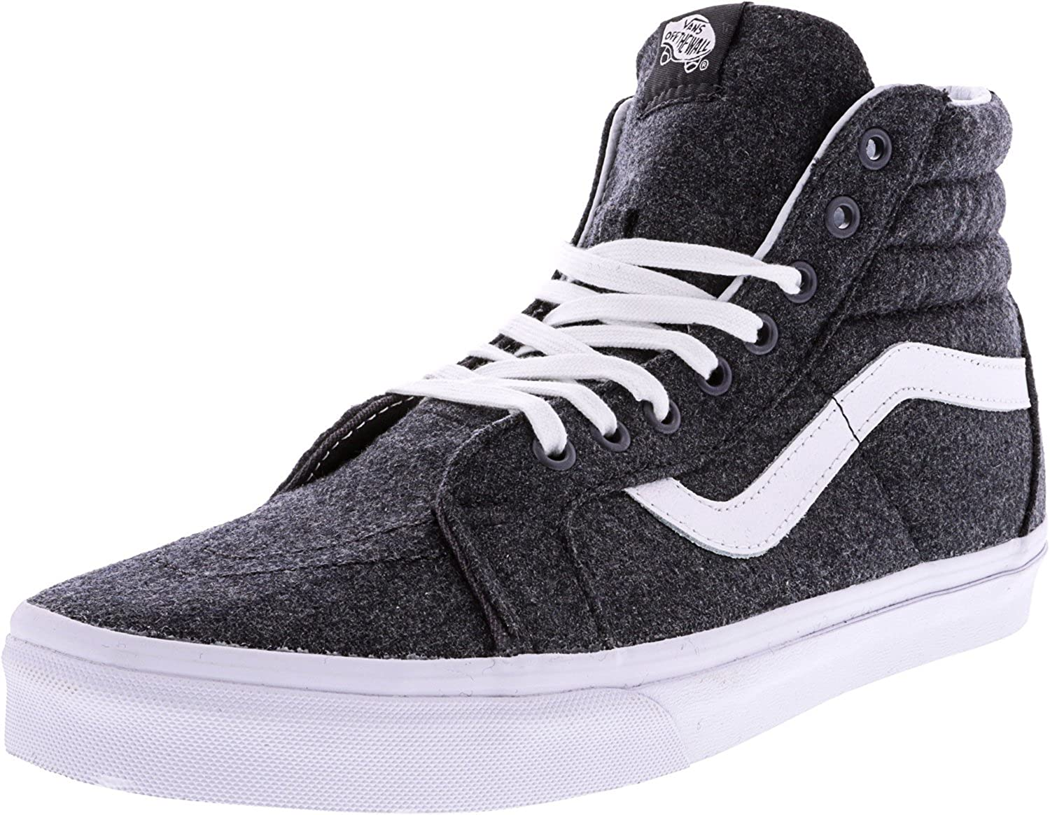 d420906428c Vans Men s Sk8-hi Reissue Skate Vulcanized High Top Sneakers Charcoal True  White 8 M US Women   6.5  Buy Online at Low Prices in India - Amazon.in