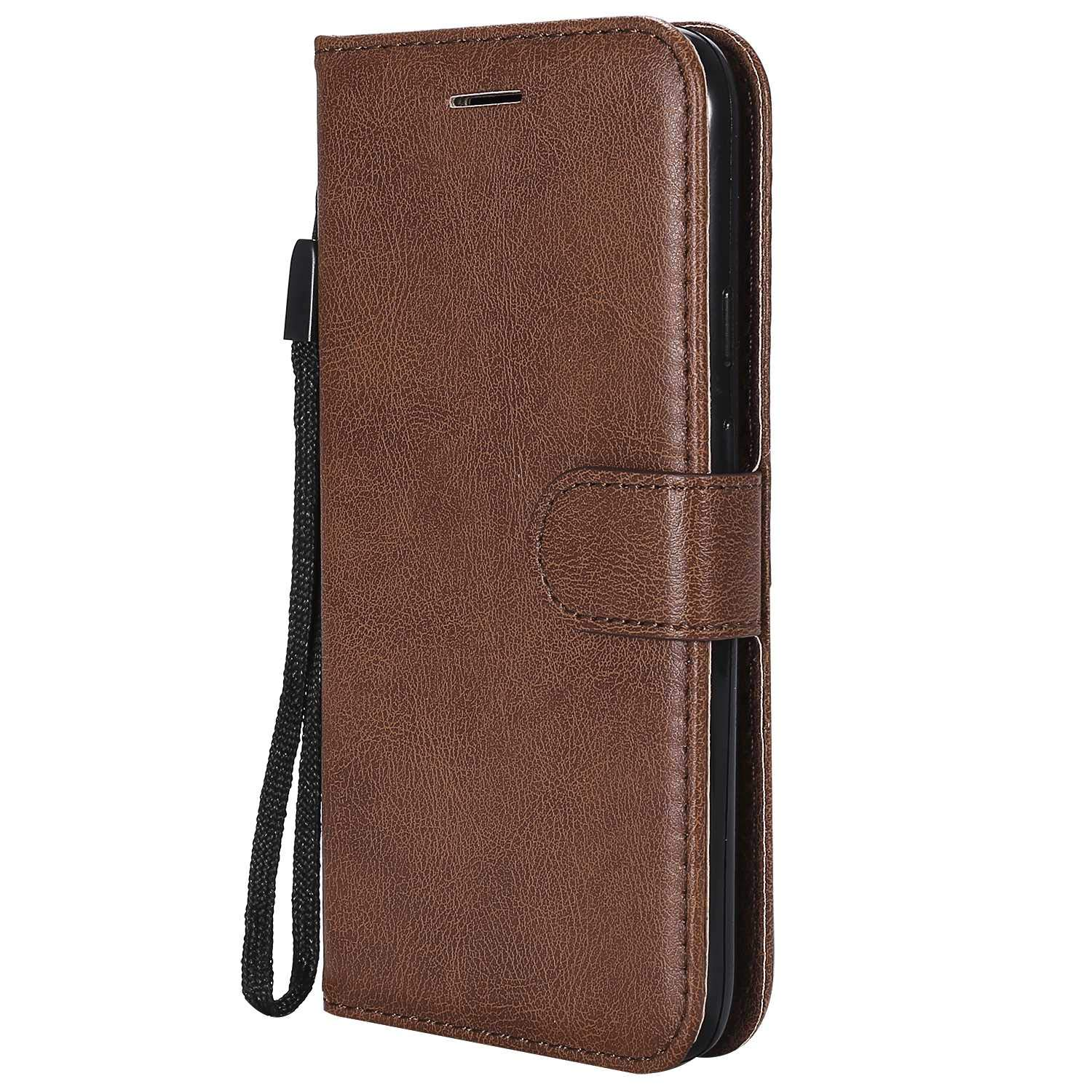 Moto G4 Play Wallet Case, UNEXTATI Leather Flip Case with Magnetic Closure and Card Holders, Anti-Shock Bumper Cover for Moto G4 Play (Brown #1)