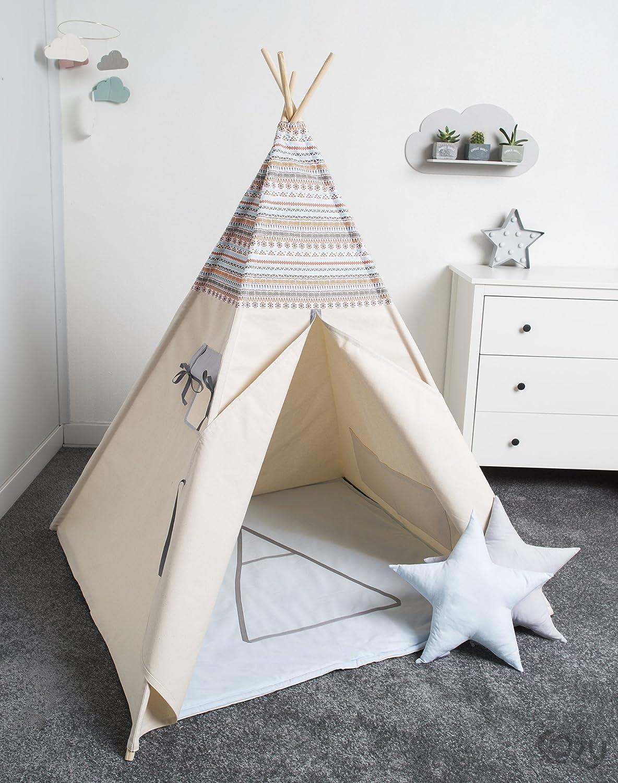 Handmade Spielzelt, Kinderzelt, Indianisches Tipi Zelt, handmade, spielzelt, tipi, kinderzelt, play tent, kids tent, teepee, tipi, indianische Teepee Indian 2 set 6 Elemente