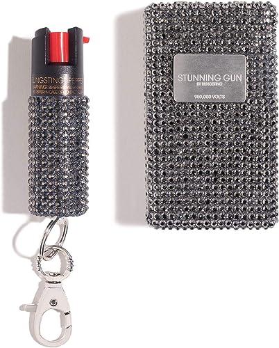 BLINGSTING Pepper Spray Stun Gun Combo Safety Set