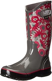 Amazon.com | Bogs Women's Berkley Houndstooth Rain Boot | Mid-Calf