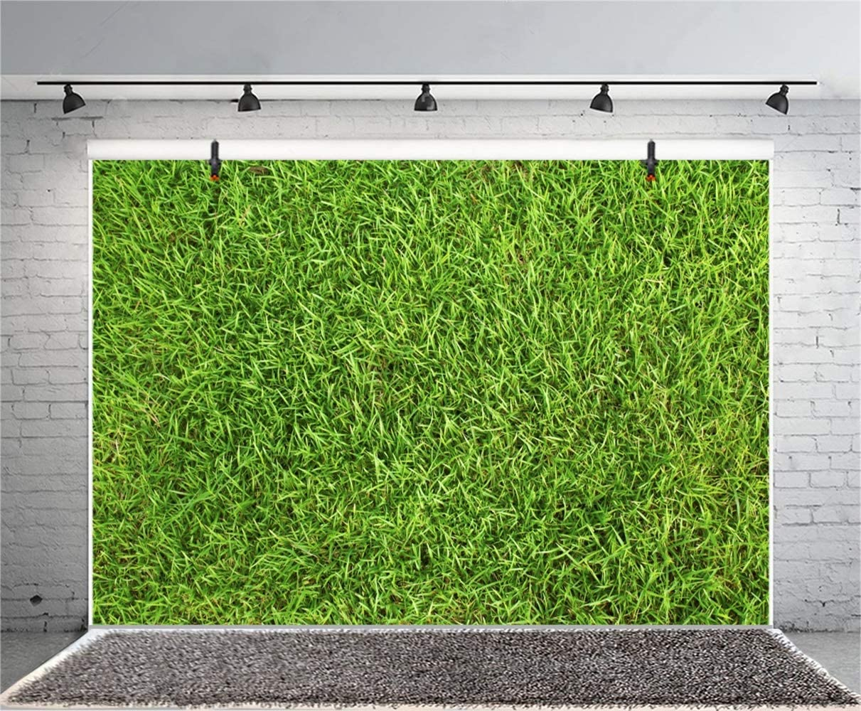 10x6.5ft Spring Vibrant Green Grassland Closeup Polyester Photography Background Lucky Hope Playground Graduation Shoot Backdrop Spring Scenic Landscape Wallpaper Studio Props