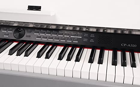 classic cantabile cp-a 320 wm piano numerique blanc mat set, y compris la banquette et le casque