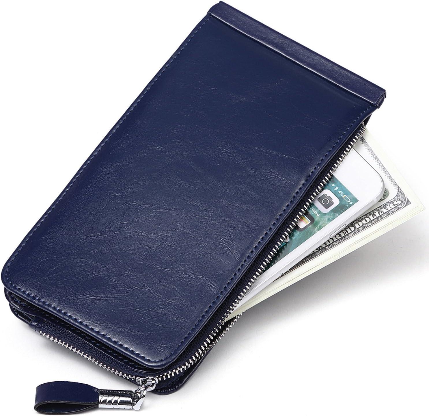 Damen Geldbörse Portemonnaie Groß Geldbeutel Kreditkartenetui lang mit