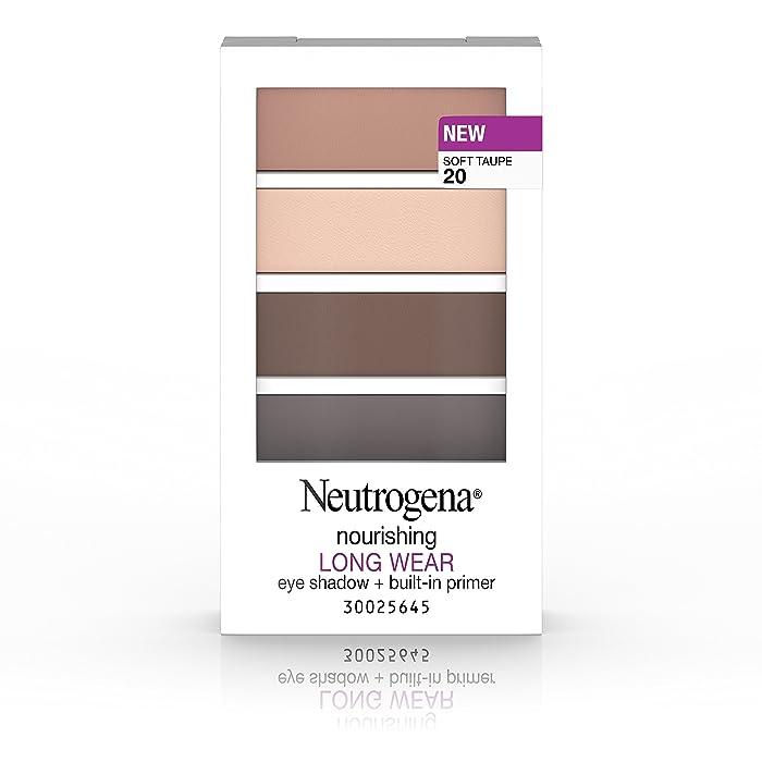 Neutrogena Nourishing Long Wear Eye Shadow + Built-In Primer, 20 Soft Taupe, .24 Oz.