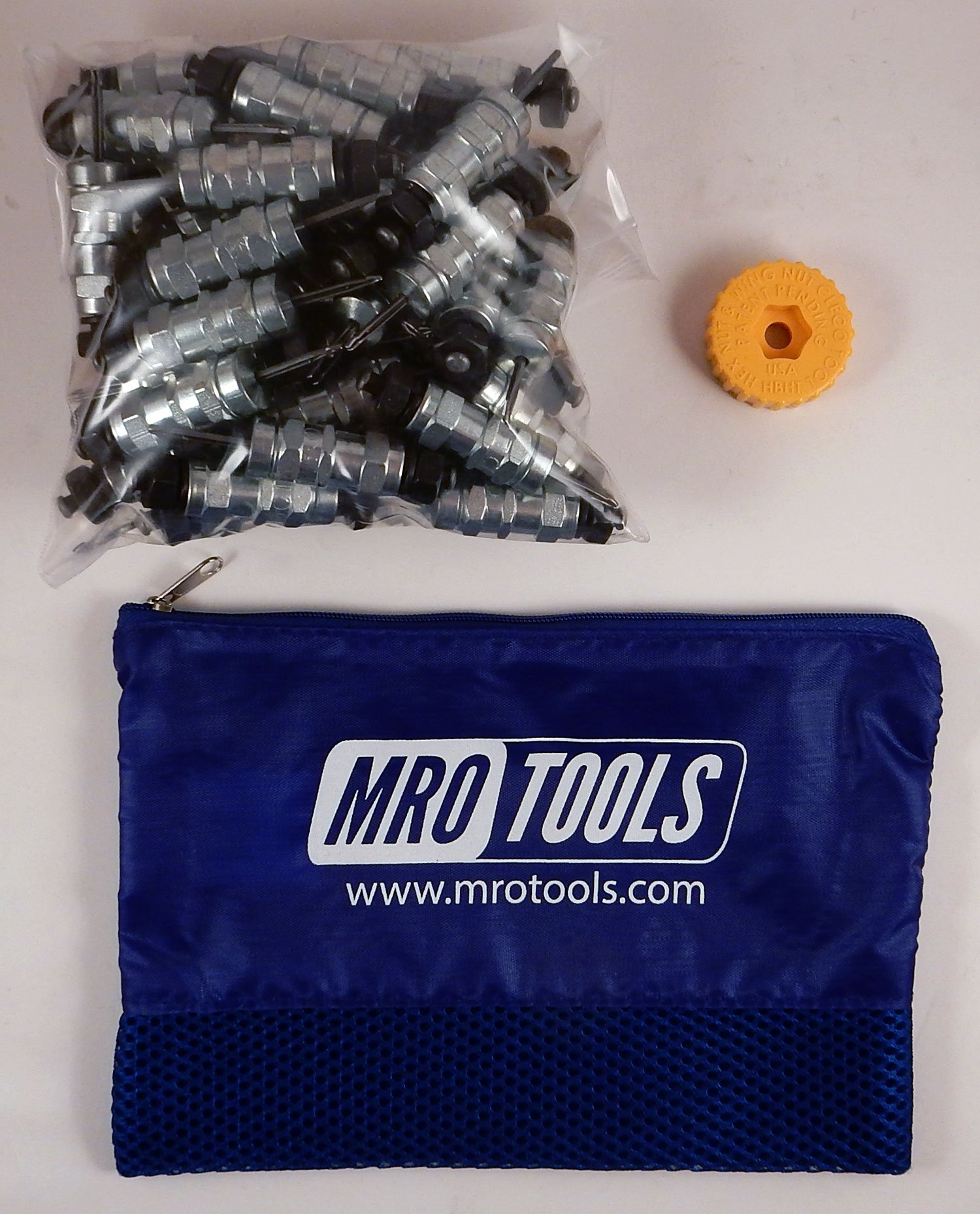 50 3/32 Standard Hex-Nut Cleco Fasteners w/ HBHT Tool & Carry Bag (KHN1S50-3/32) by MRO Tools Cleco Fasteners