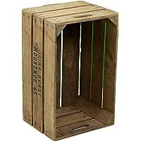 Kistenkolli Altes Land Jolie boîte à Pommes Quast - Caisse à Fruits Originale de la Vieille Caisse en Bois - Décoration de Balcon