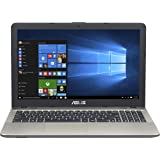 Asus VivoBook Notebook, 15.6 pollici HD LED, Processore Intel Celeron N3350, RAM 4 GB, Hard Disk 500GB, FreeDos, Nero [Layout Italiano]