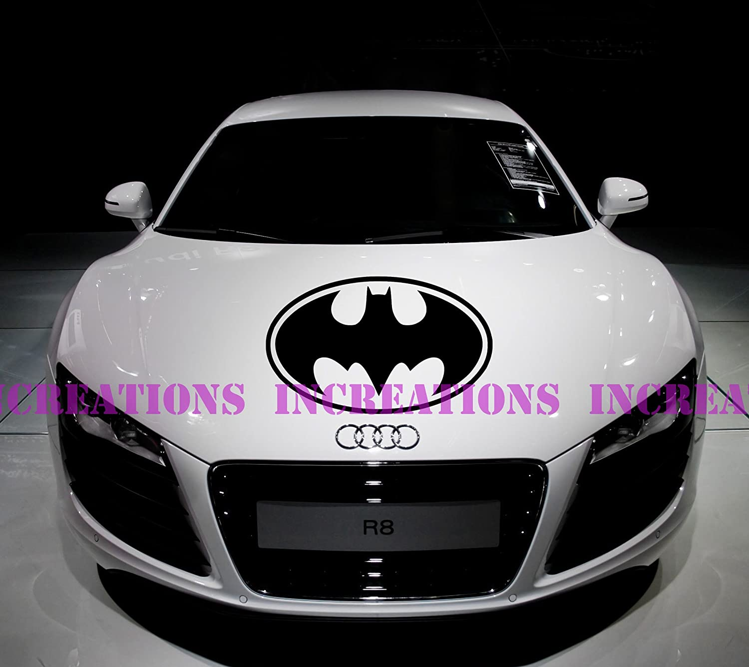 Amazon com batman superhero decal hood stripe any car decals stickers racing graphic black automotive