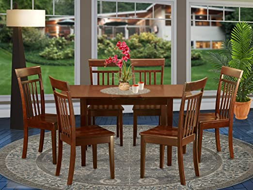 Amazon Com 7 Pc Small Kitchen Nook Dining Set T Able And 6 Chairs For Dining Room Furniture Decor