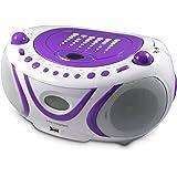 Metronic 477112 Radio/Lecteur CD/MP3 Portable Pop Purple avec Port USB - Violet