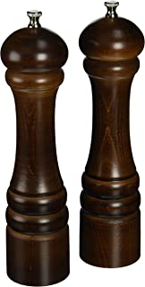 """product image for Chef Specialties 10"""" Imperial Pepper Mill and Salt Mill Set, Walnut"""