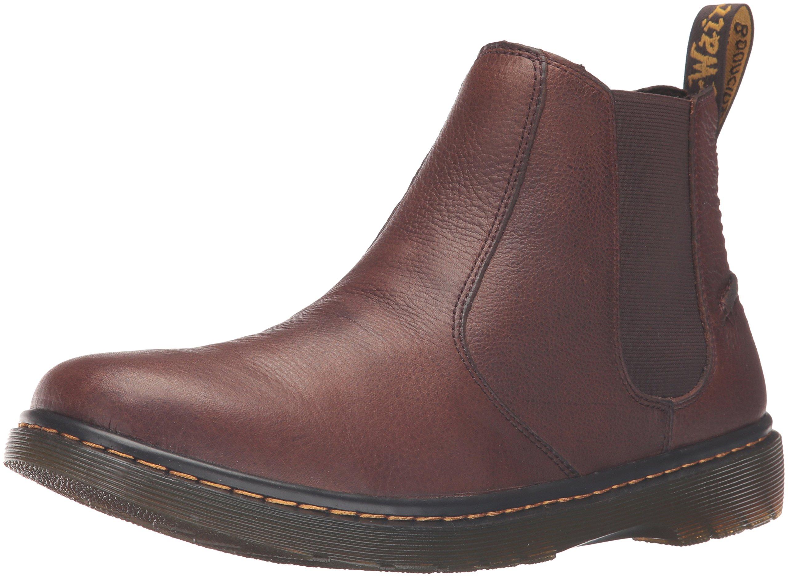 Dr. Martens Men's Lyme Chelsea Boot, Dark Brown, 6 UK/7 M US