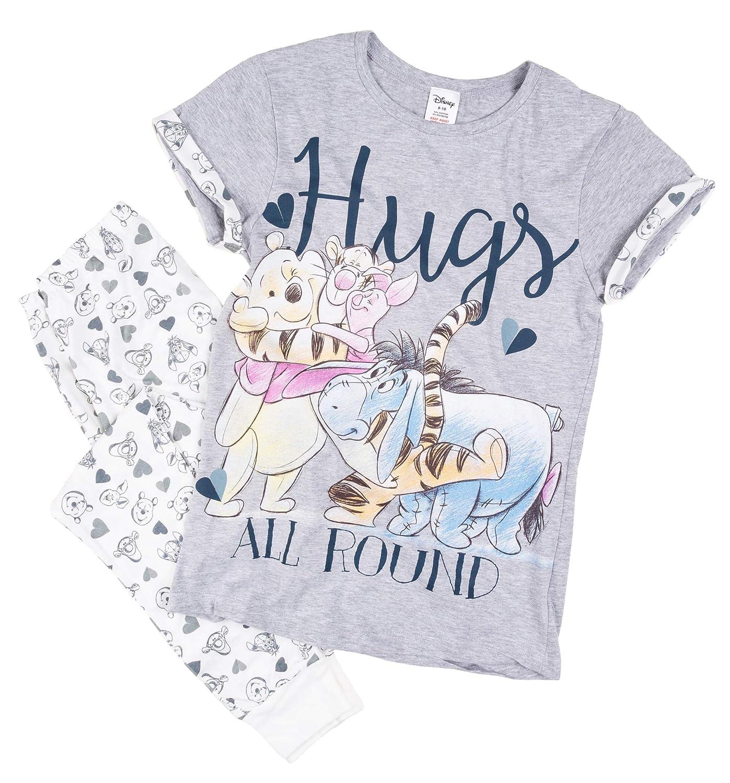 edfae863 TruffleShuffle Womens Winnie The Pooh Hugs All Round Pyjamas: Amazon.co.uk:  Clothing