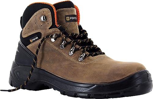 Foxter Chaussures de sécurité | Mixte : Hommes et Femmes | Montantes | Imperméable | Cuir | S3 SRC
