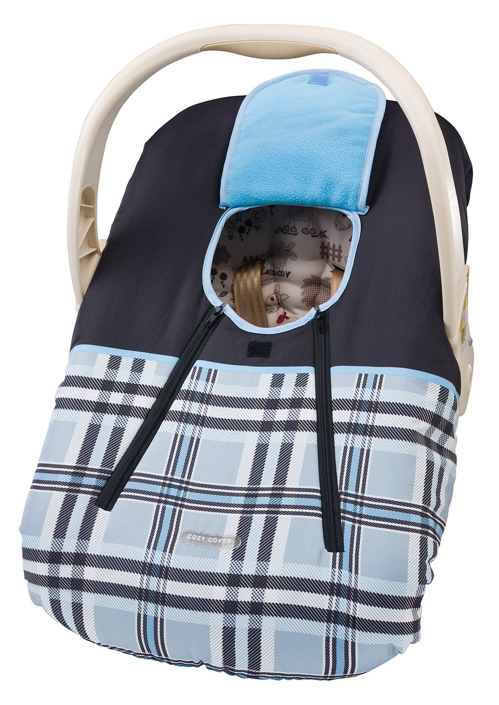 Cozy Cover Infant Car Carrier Cover (Blue): Amazon.co.uk: Baby