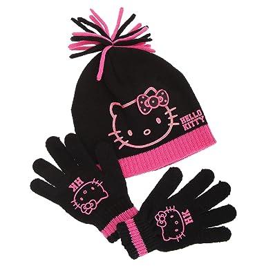 7363bbb64 Childrens/Kids Girls Hello Kitty Winter Hat & Gloves Set (4-8 Years ...