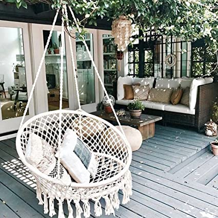 pound s capacity handmade macrame hammock chair is itm loading swing hanging image