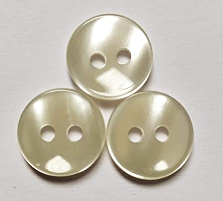 50 Botones de nacar para camisas de 1 cmt. de diamétro, color crudo de 2 agujeros - FABRICADO Y ENVIADO desde España: Amazon.es: Hogar